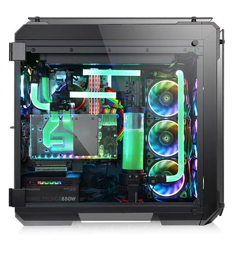 thermaltake tg 2 thermaltake view 71 tempered glass rgb edition tower