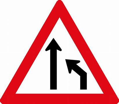 Lane Ends Right W214 Road Sadc Signs