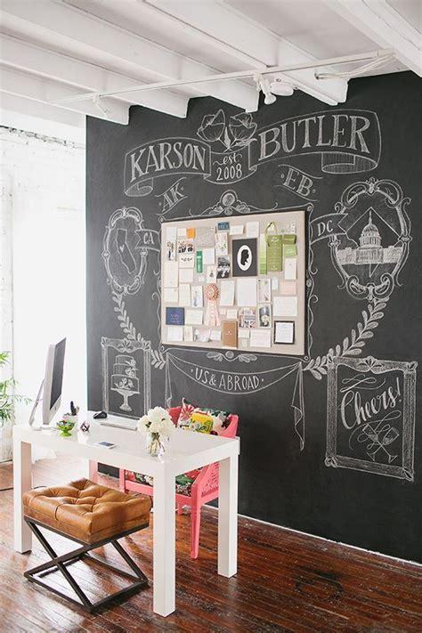 chalkboard ideas 32 smart chalkboard home office d 233 cor ideas digsdigs