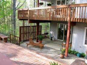 Elevated Deck Designs by Planning Ideas Simple Outdoor Elevated Deck Plans