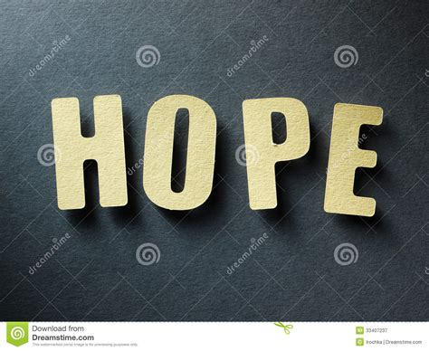 word hope  paper background stock image image