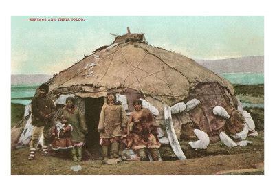 Eskimos And Igloo Art Print  Poster And Print
