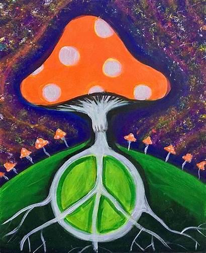 Painting Mushrooms Magic Paint Blacklight Sip California