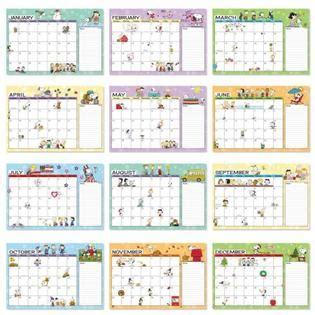bigbolo peanuts calendar pad