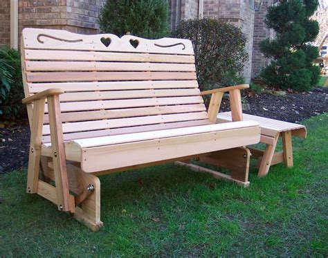 cedar country hearts rocking glider glider bench cedar