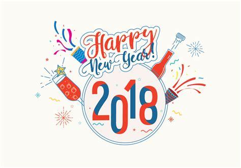 Feliz Año Nuevo 2018 Vector De Fondo