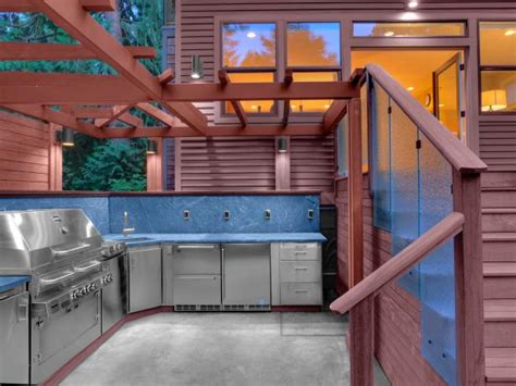 outdoor kitchen storage solutions choosing outdoor kitchen cabinets hgtv 3874
