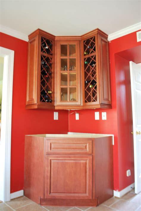 envy kitchens    custom corner wine rack