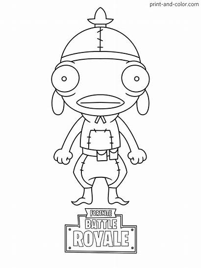 Fortnite Coloring Pages Fishstick Skin Drawing Printable