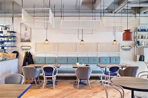Contemporary Lamps Bright Up This Scandinavian Coffee Shop