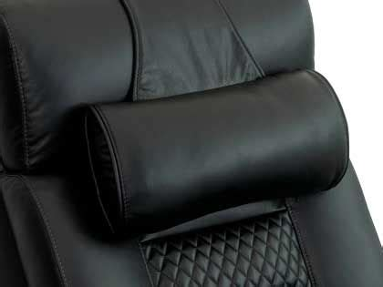 brown leather head neck pillow  octane seating