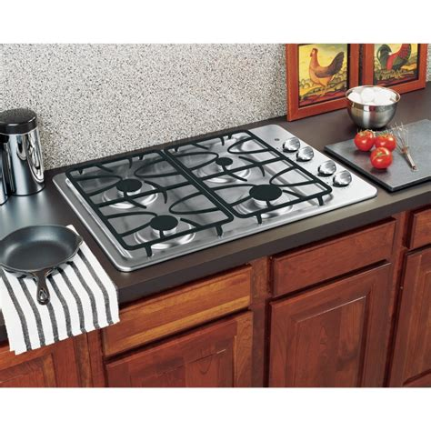 gas cooktop stove ge jgp329setss 30 quot gas cooktop with 4 sealed burners
