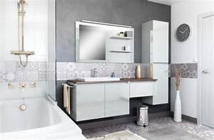 delightful salle de bain blanc bois 2 salles de bain With armoire de salle de bain bois