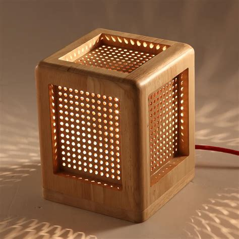 Creative Fashion Square Wooden Desk Lamp Perforated E27 Iphone Wallpapers Free Beautiful  HD Wallpapers, Images Over 1000+ [getprihce.gq]