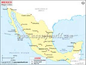 Mexico Major Cities Map