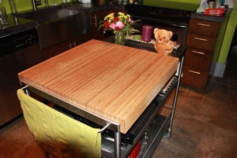 Baltic Birch Butcher Block Island Top   Modern   Kitchen