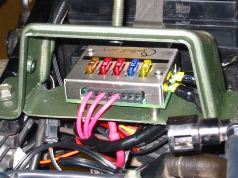Motorcycle Electrical Fuse Box by Ap 1 Fusebox Mount And 12v Adapter Install