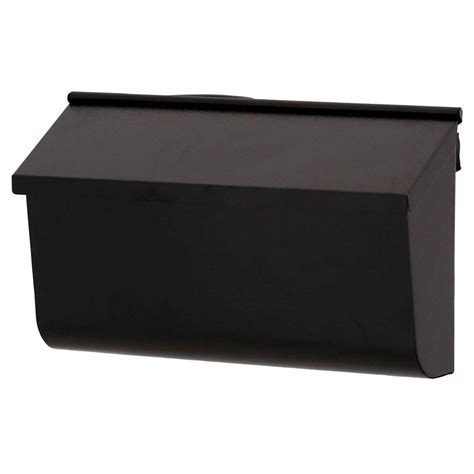 wall mount mailbox gibraltar mailboxes woodlands black wall mount mailbox 4612