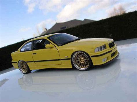 bmw   jaune wheels bbs big offset ut models diecast