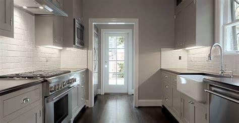 stainless steel galley kitchen modern kitchen