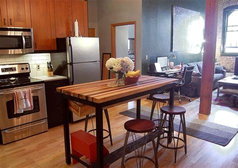 Buy a Hand Crafted Butcher Block Kitchen Island With
