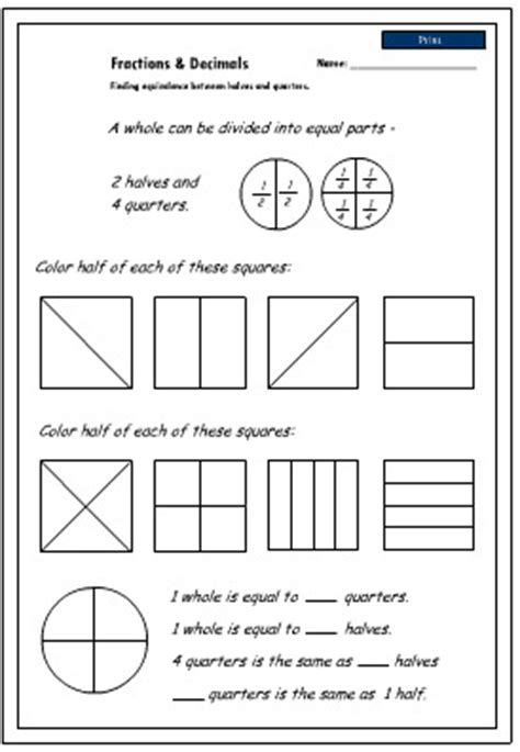 images  teaching equivalent fractions worksheets