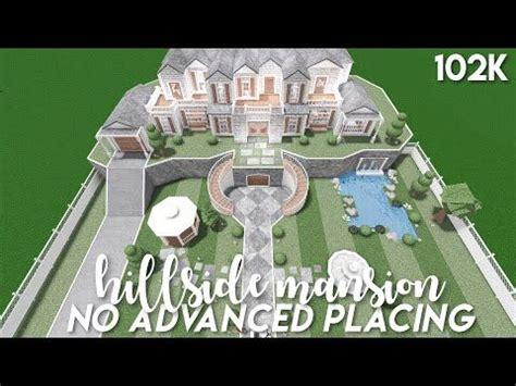 advanced placing hillside mansion bloxburg speedbuild youtube unique house design
