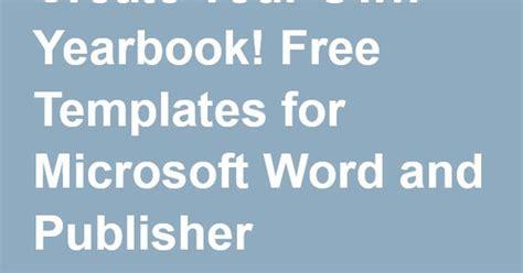 create   yearbook  templates  microsoft