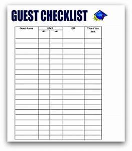 search results for free printable guest list template With graduation party checklist template