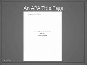 apa cover page format apa style the basics презентация онлайн