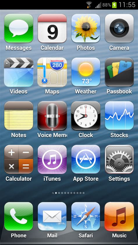 apps on iphone 5 iphone 5 launcher released on android most