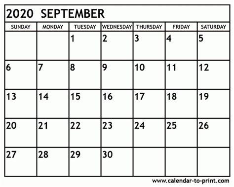 printable calendar september   letter templates