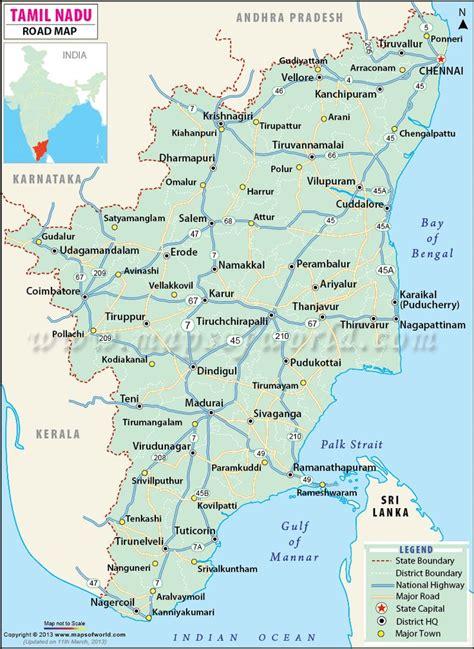 map india tamilnadu nadu tamil road maps cities major chennai district state coimbatore districts karnataka highways places travel google capital