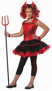 Girls Sassy Red Devil Halloween Fancy Dress Kids Costume ...
