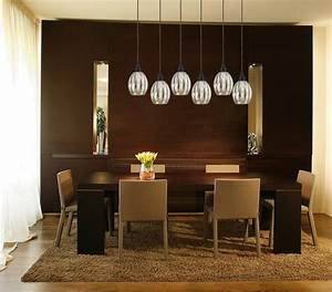 danica 6 light bronze linear pendant with mercury glass With contemporary pendant lighting for dining room