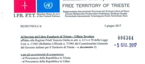 Ufficio Tavolare Trieste by Movimento Trieste Libera Legalit 224 E Pieni Diritti