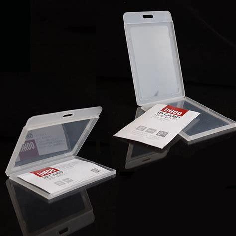durable pack  hard plastic id card badge holder