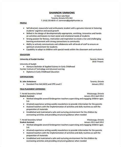 Teaching Assistant Resume by 9 Assistant Resume Templates Pdf Doc Free
