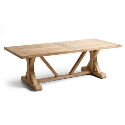 washed teak farmhouse table frontgate