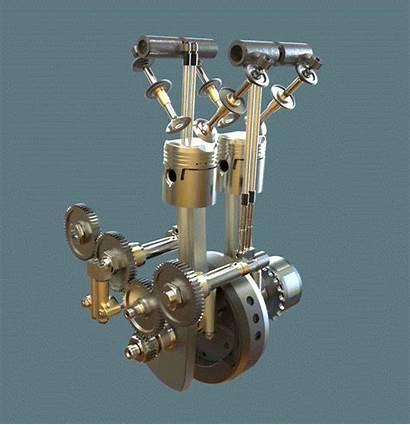 Stroke Engine Cylinder Triumph Animated Animation Mechanical