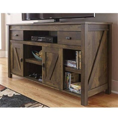 farmhouse tv console table rustic tv stand console up to 60 barn wood farmhouse home