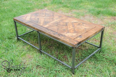 Diy Metal And Wood Coffee Table
