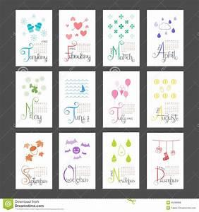 Mini Kalender 2015 : kalender mini wall lettering montly sunday anfang 2015 vektor abbildung illustration von ~ Watch28wear.com Haus und Dekorationen