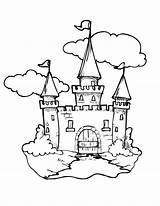 Castle Medieval Coloring Gate Drawing Pages Knights Getdrawings sketch template