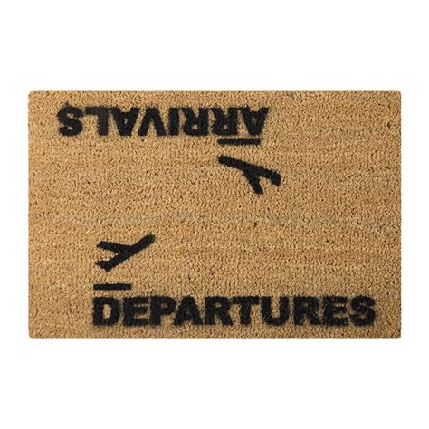 Buy Doormat by Buy Artsy Doormats Arrivals Departures Door Mat Amara