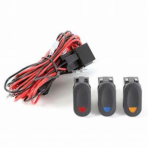 1521073 Light Wiring Harness Kit For 3 Lights By Rugged Ridge