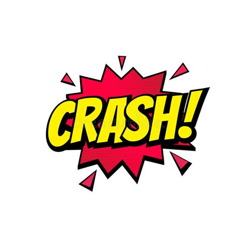 Crash Comic Text Bubble Vector Color Icon Stock