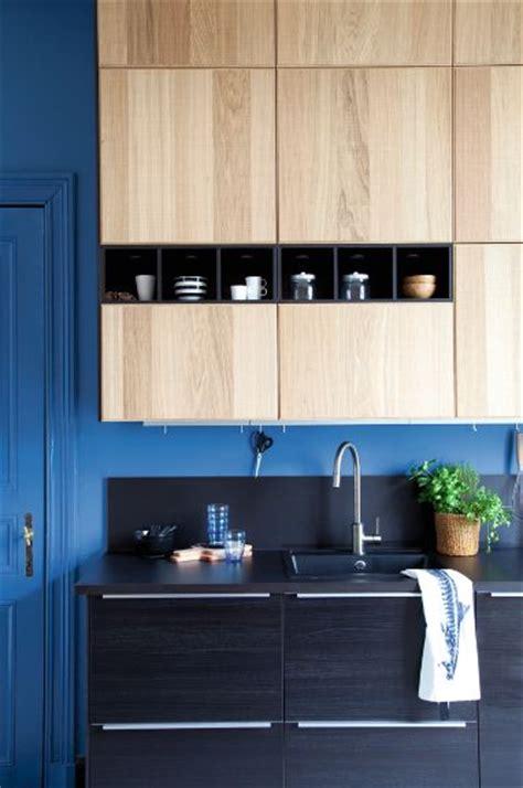facades cuisine ikea modèle de cuisine ikea metod avec des façades noires