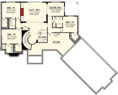 ranch floor plans with walkout basement ranch home plan with walkout basement 89856ah 1st floor master suite butler walk in pantry