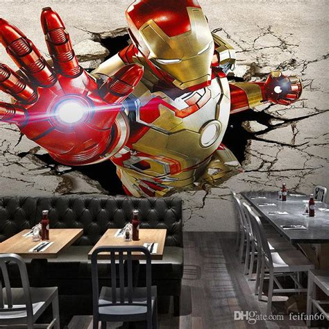 3d Wallpapers Boys by 3d View Iron Wallpaper Wall Murals Cool Photo